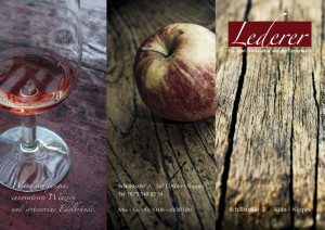 Lederer | Ess- und Trinkkultur aus der Steiermark | Flyer