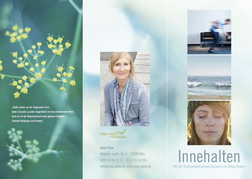 Anja Plate | Achtsamkeitstraining | Flyer