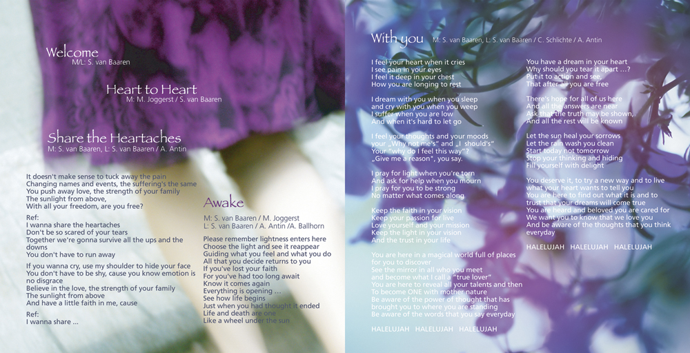 CD Booklet | AWAKE | Sabine van Baaren und Mark Joggerst