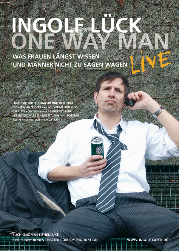 Ingolf Lück | One Way Man | Theaterplakat