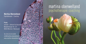 Martina Oberwelland | Psychotherapie und Coaching | Flyer Vorderseite