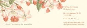 Martina Mischnick | Homöopathie | Klapp-Visitenkarte