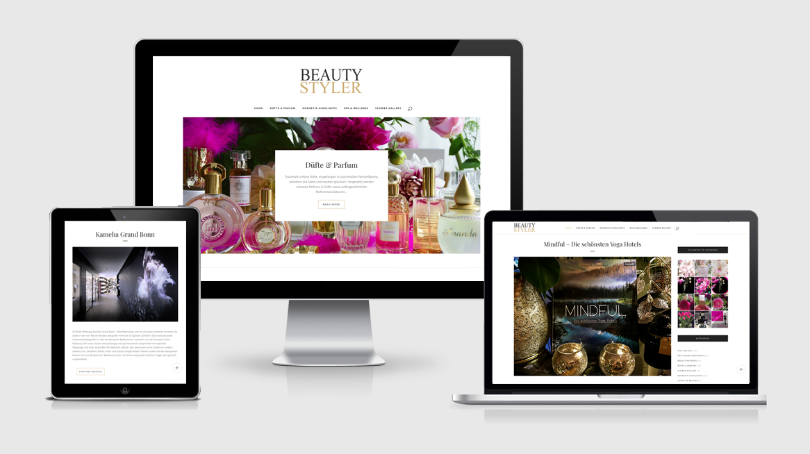 grafik design köln - susanne breuer -beauty styler- webdesign
